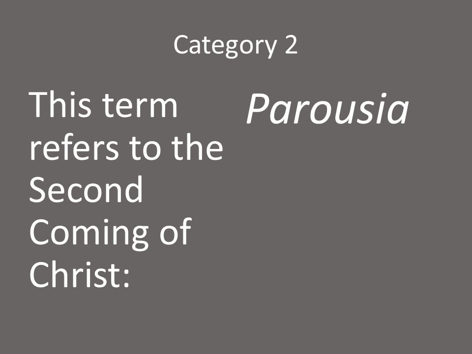Category 2 When we re-interpret writings to discover their meaning, we are doing: Hermeneutics