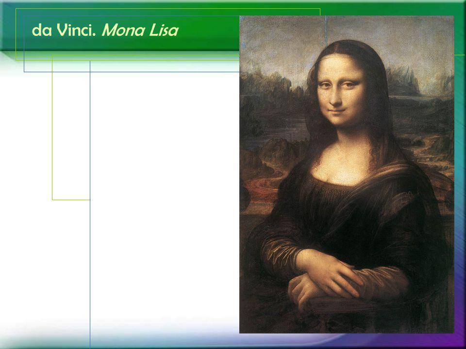 da Vinci. Mona Lisa