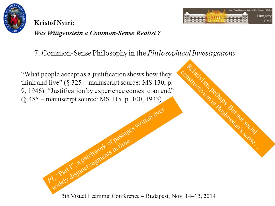 5th Visual Learning Conference – Budapest, Nov.