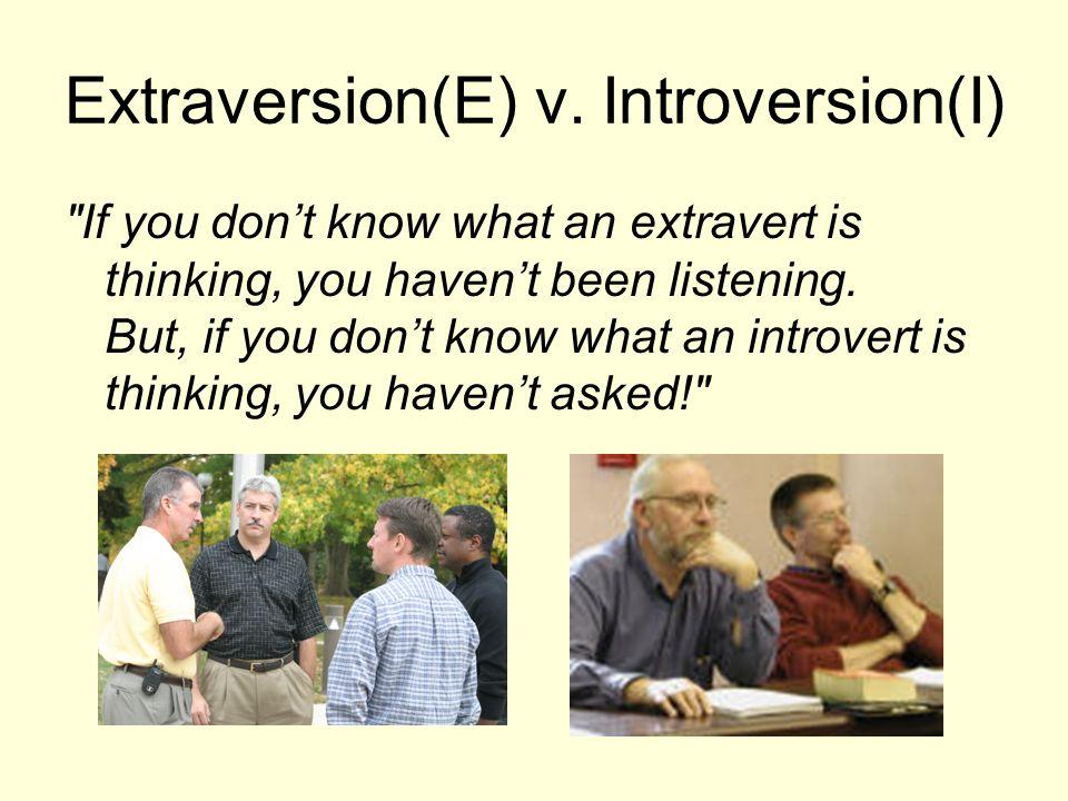 Extraversion(E) v.