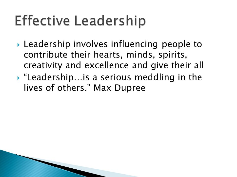""" Leadership involves influencing people to contribute their hearts, minds, spirits, creativity and excellence and give their all  """"Leadership…is a s"""