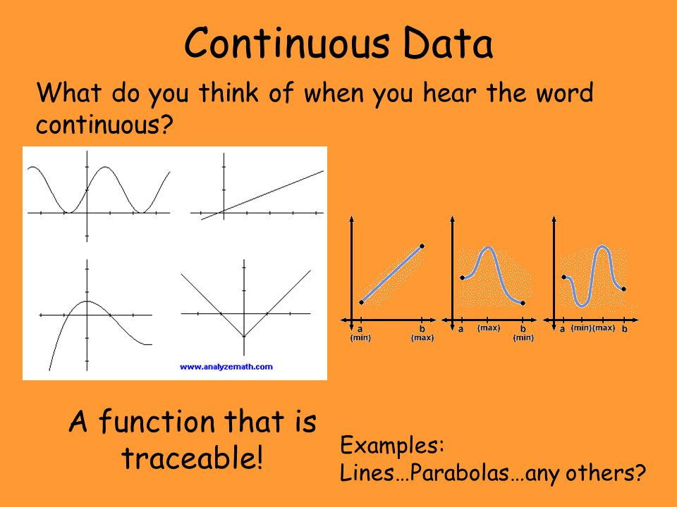 Discontinuous Data What do you think of when you hear the word discontinuous.
