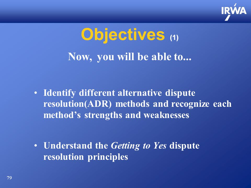 79 Objectives (1) Now, you will be able to...