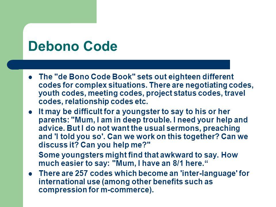 Debono Code The