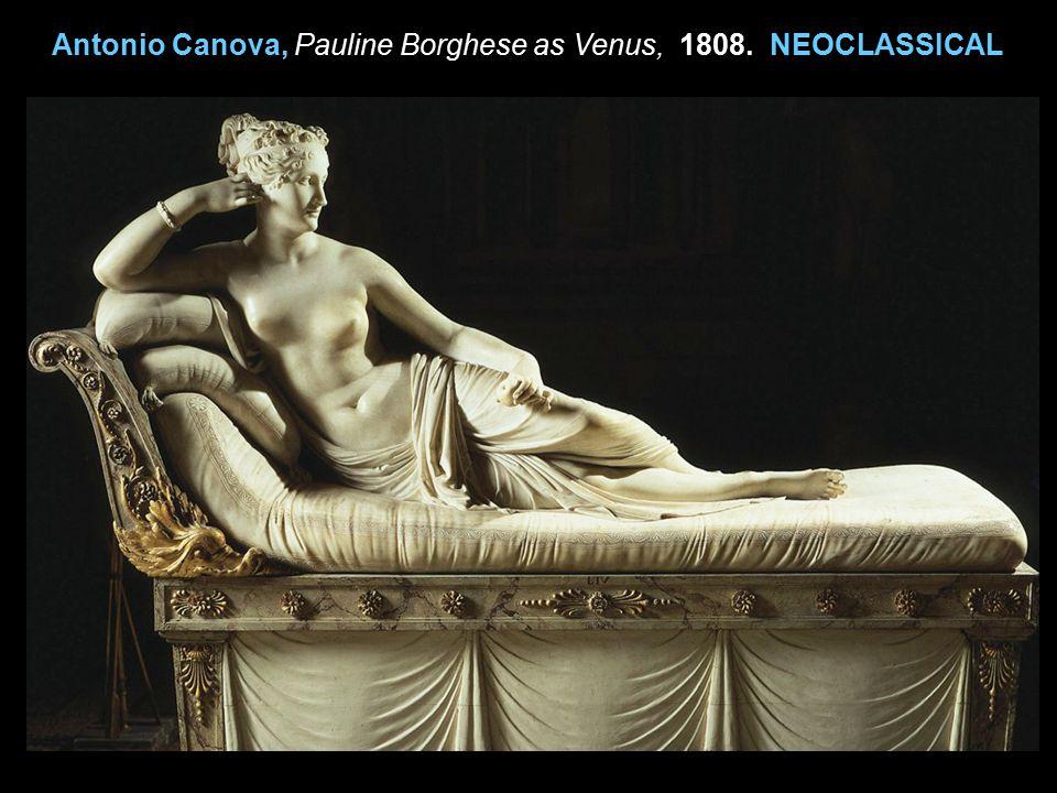 Antonio Canova, Pauline Borghese as Venus, 1808. NEOCLASSICAL