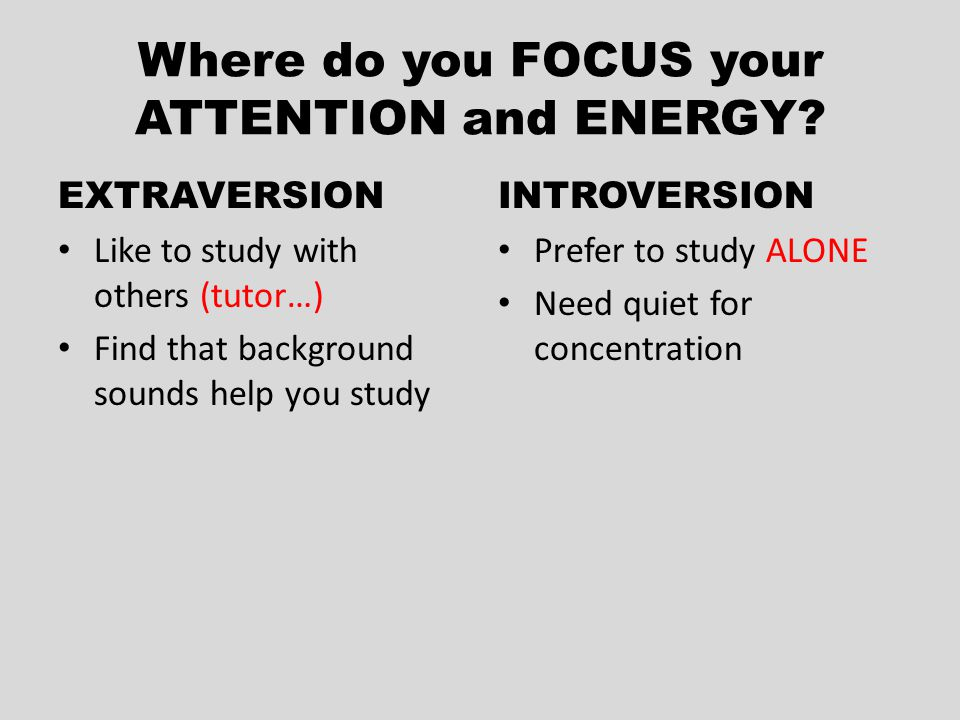 Where do you FOCUS your ATTENTION and ENERGY.