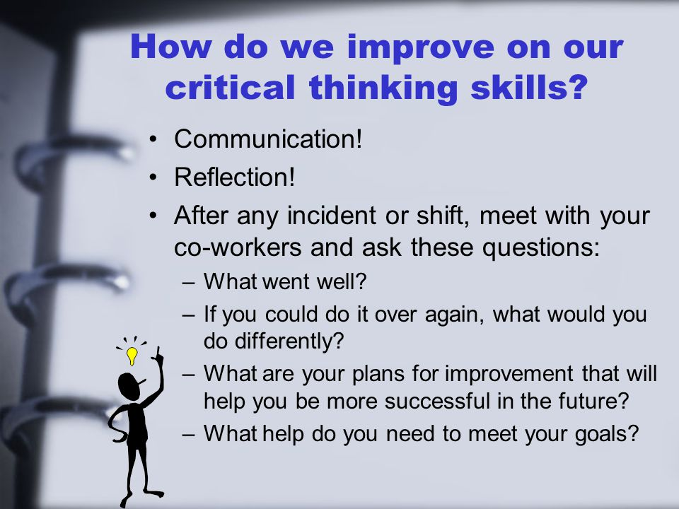 reflective essay critical thinking The importance of critical thinking 4 pages 964 words december 2014 saved essays save your essays here so you can locate them quickly.