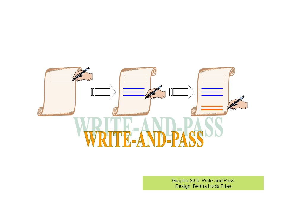 Graphic 23 b: Write and Pass Design: Bertha Lucía Fries
