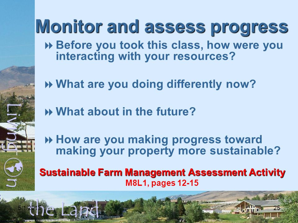 5/1/201525 Monitor and assess progress  Before you took this class, how were you interacting with your resources.