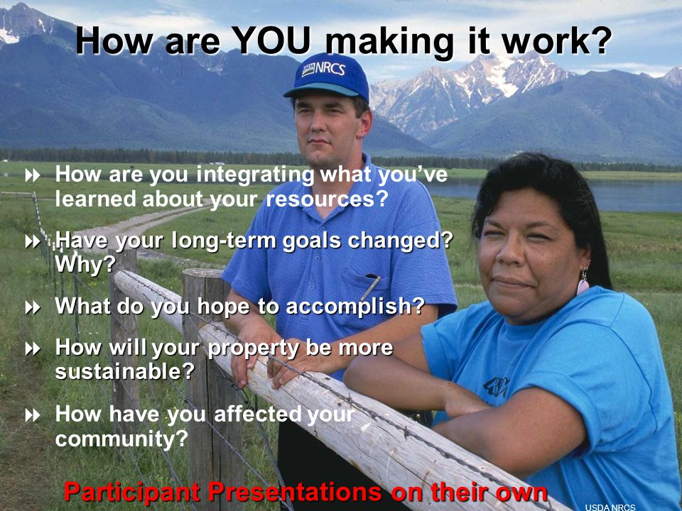  How are you integrating what you've learned about your resources.