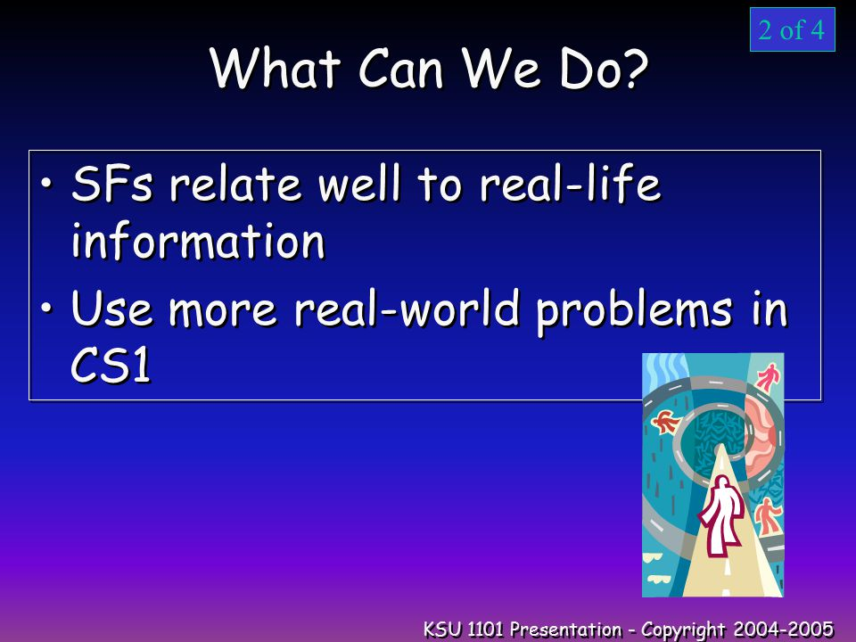 KSU 1101 Presentation - Copyright 2004-2005 What Can We Do.