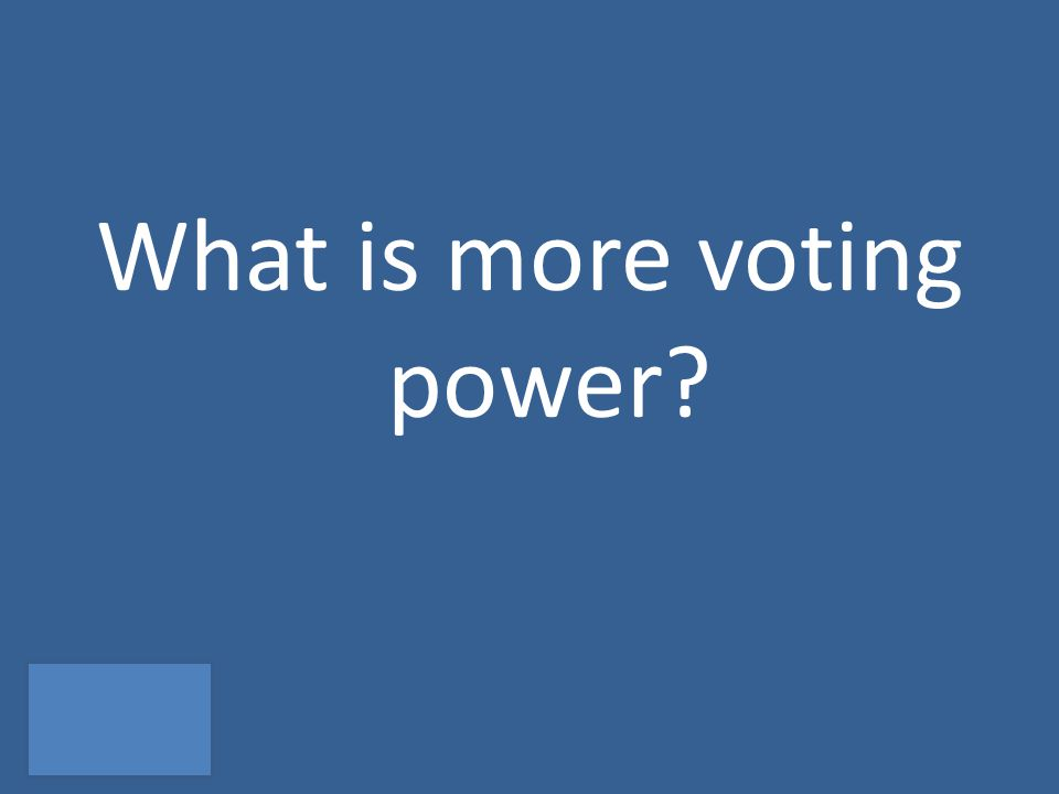 What is more voting power