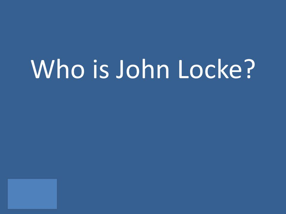 Who is John Locke