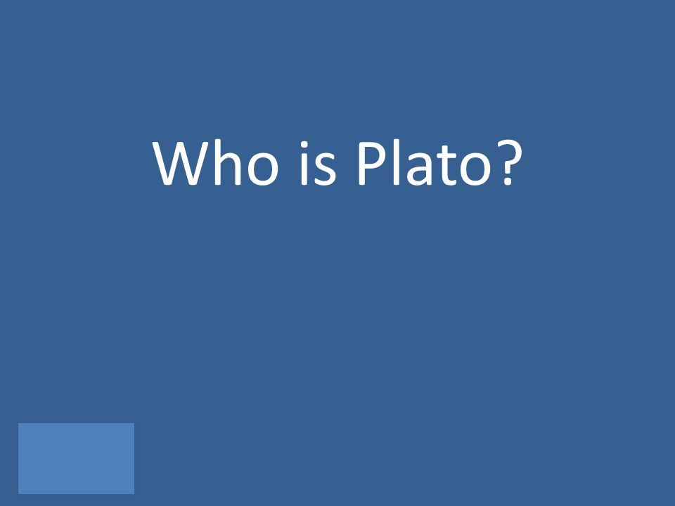 Who is Plato