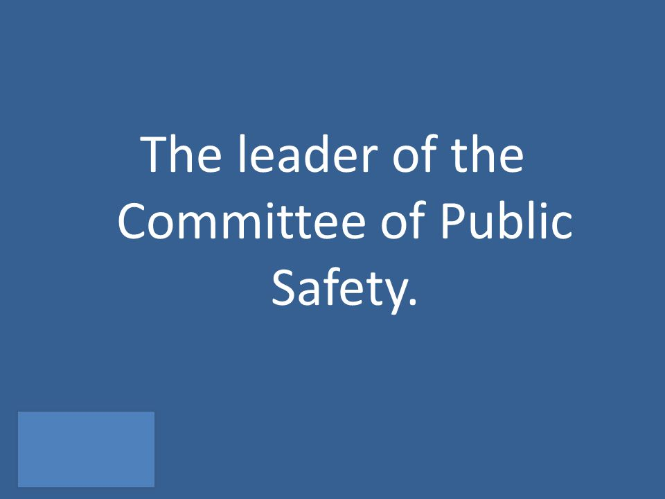 The leader of the Committee of Public Safety.