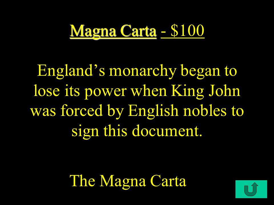 $100 $200 $500 $300 $400 $300 $500 English Bill of Rights of RightsAmericanRevolutionFrenchRevolution Who Am I.