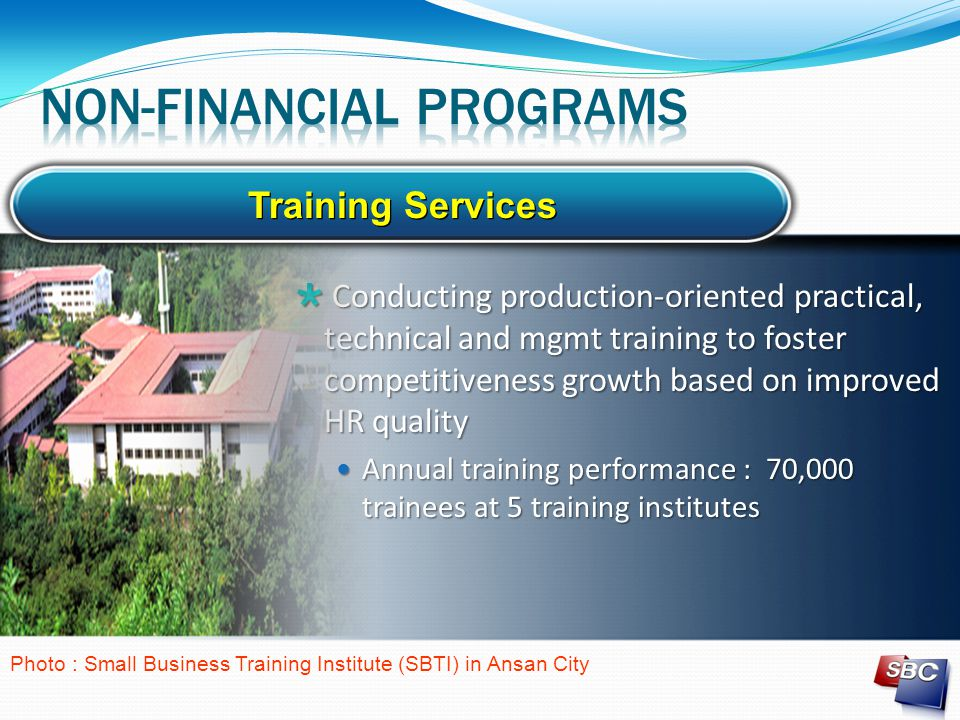  Conducting production-oriented practical, technical and mgmt training to foster competitiveness growth based on improved HR quality Annual training