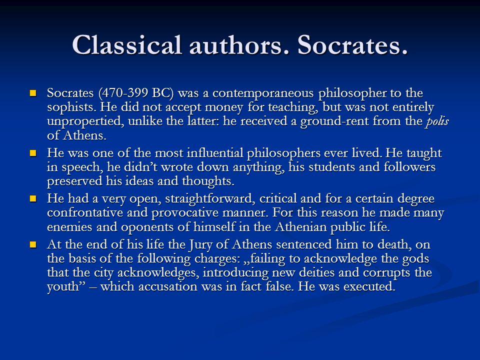 Classical authors. Socrates.