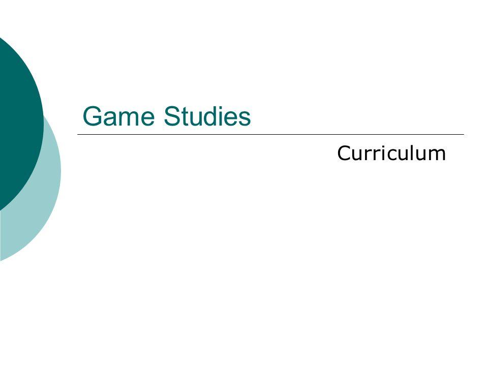 Game Studies Curriculum