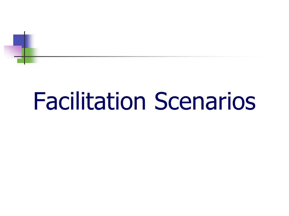 Facilitation Scenarios