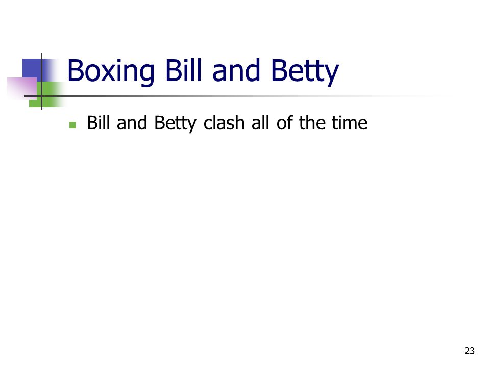 23 Boxing Bill and Betty Bill and Betty clash all of the time