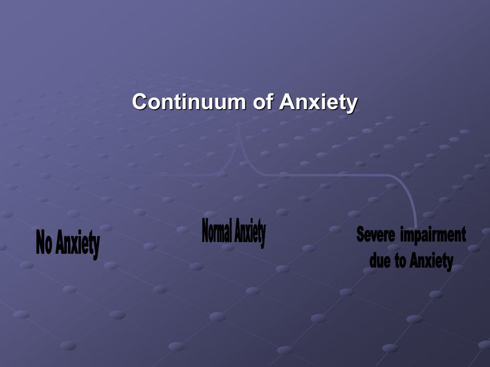 Continuum of Anxiety