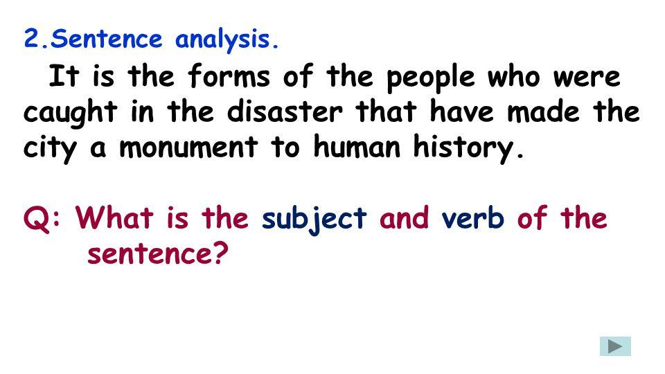 2.Sentence analysis.