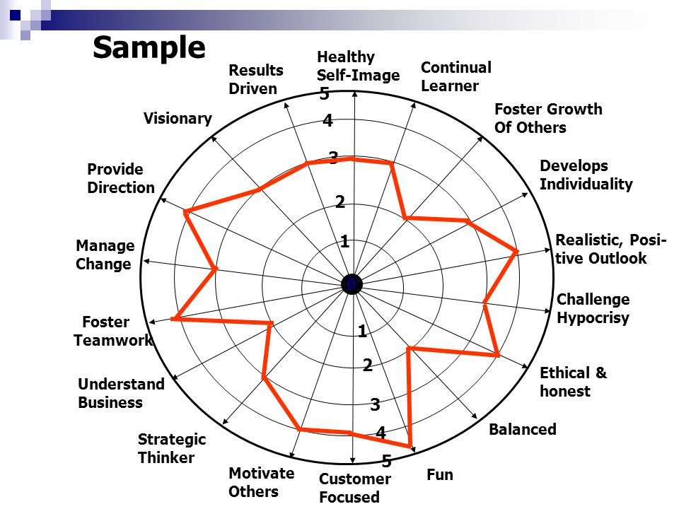 Sample Results Driven Visionary Provide Direction Manage Change Foster Teamwork Understand Business Strategic Thinker Motivate Others Customer Focused