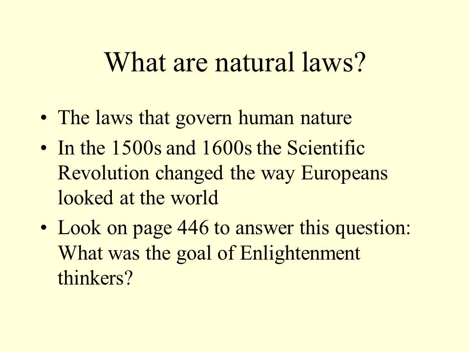 What are natural laws.
