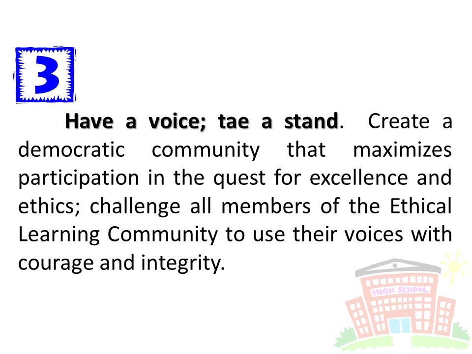 Have a voice; tae a stand Have a voice; tae a stand.