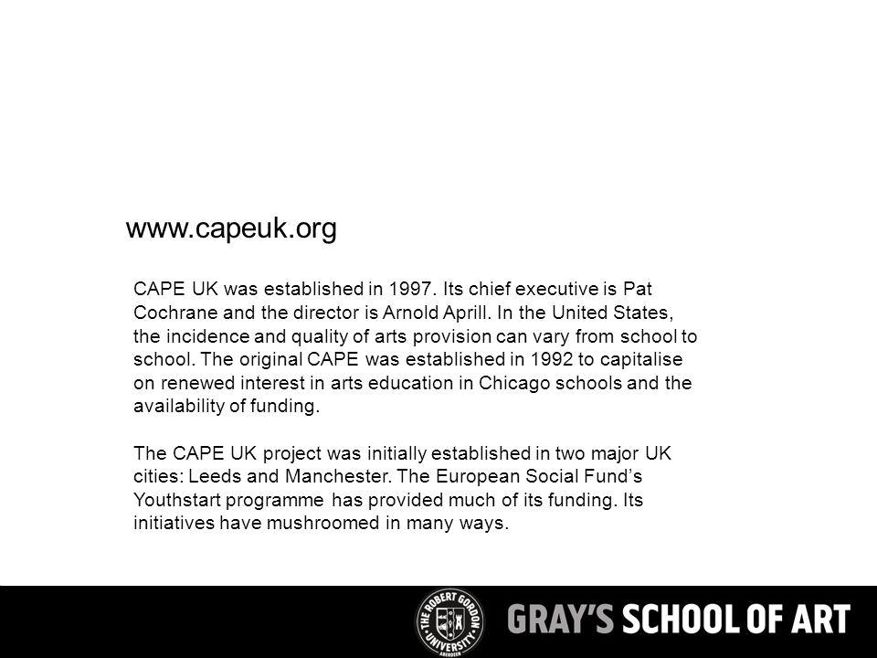 CAPE UK was established in 1997.