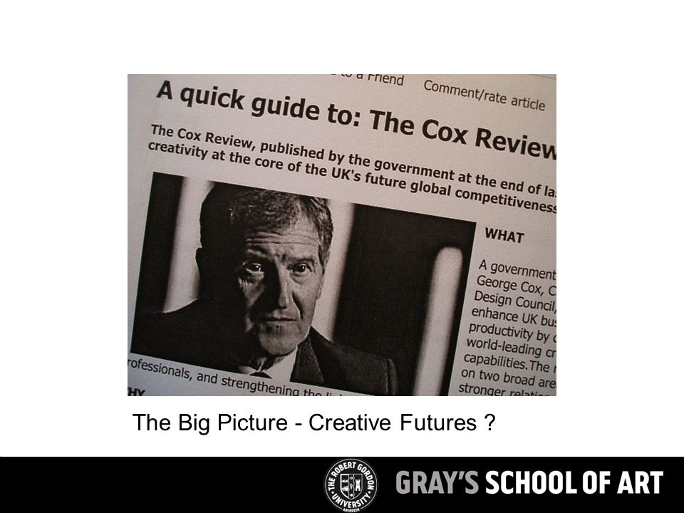 The Big Picture - Creative Futures