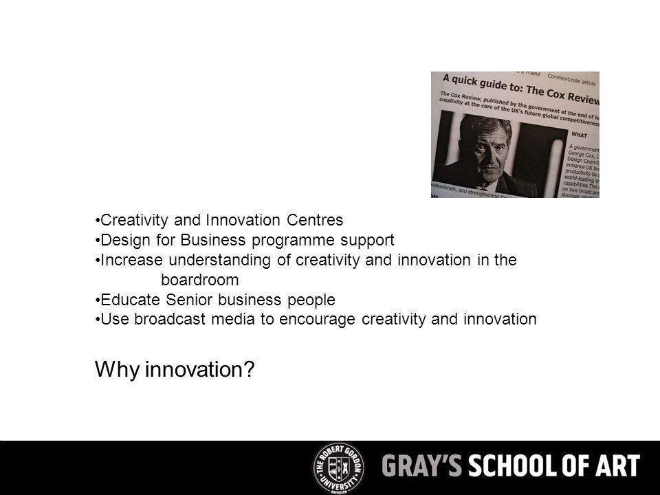 Why innovation.