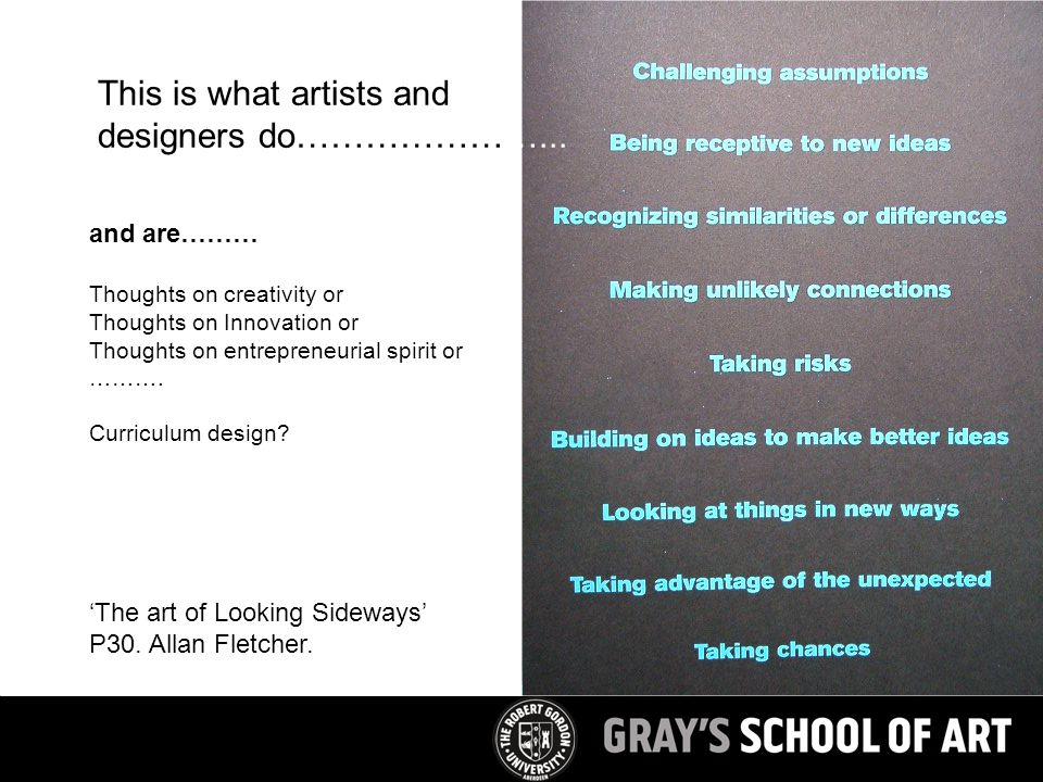 and are……… Thoughts on creativity or Thoughts on Innovation or Thoughts on entrepreneurial spirit or ……….