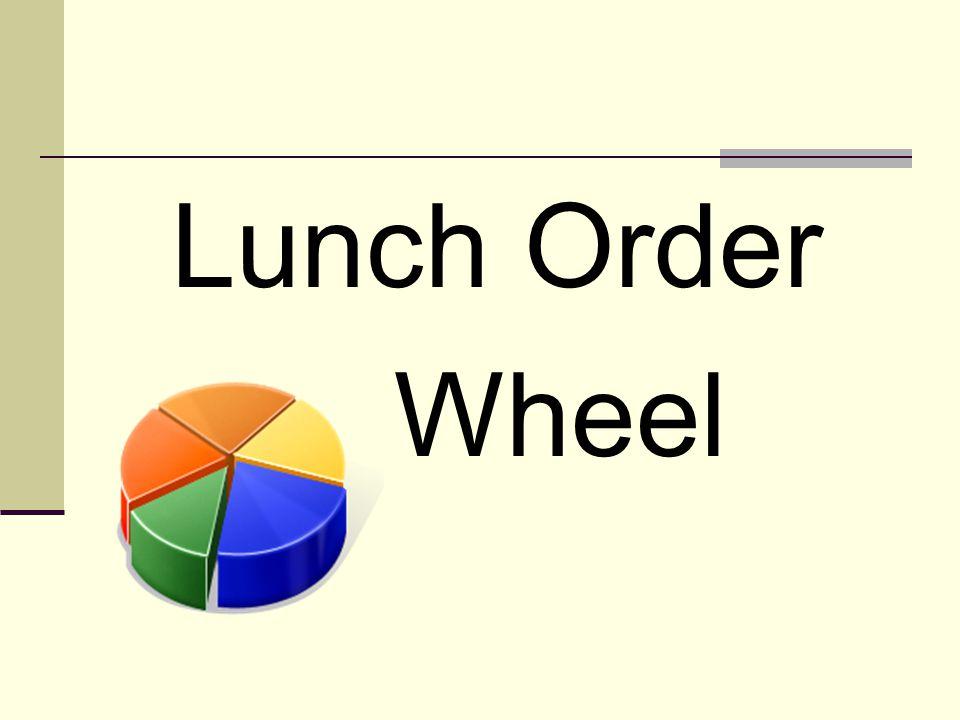 Lunch Order Wheel