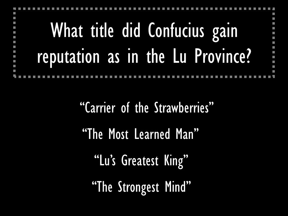 What title did Confucius gain reputation as in the Lu Province.