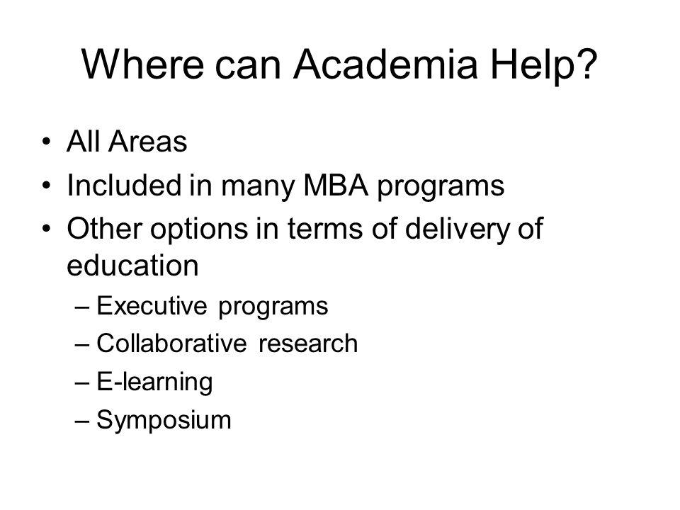 Where can Academia Help.