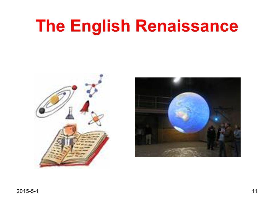 The English Renaissance 2015-5-111