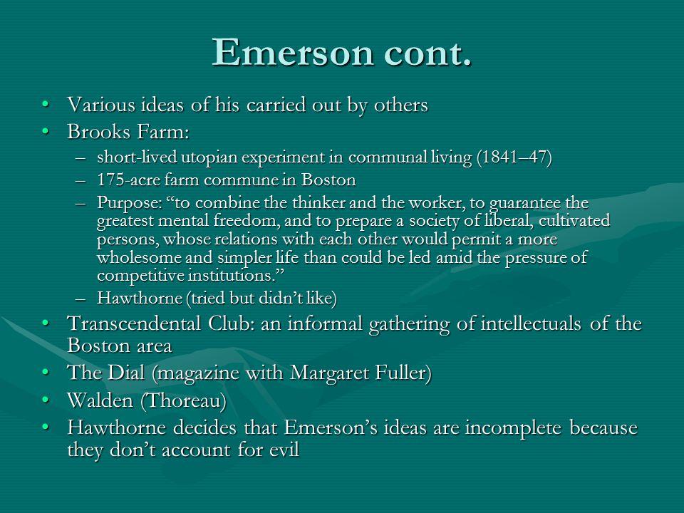 Emerson cont.