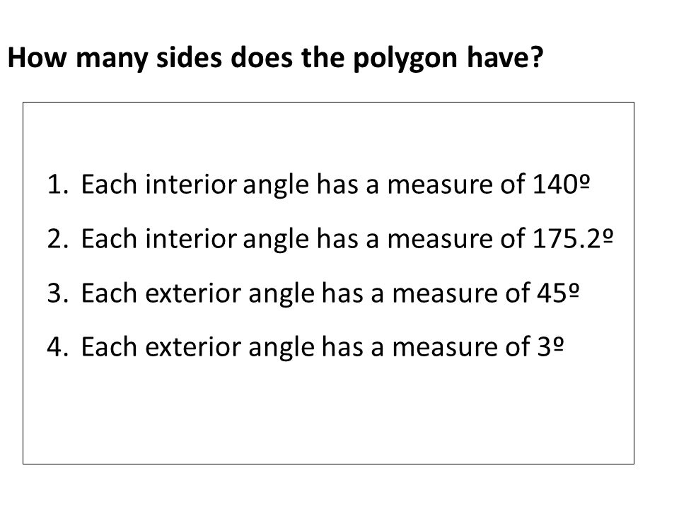 Find the measures of an interior angle and exterior angle of the indicated polygon.