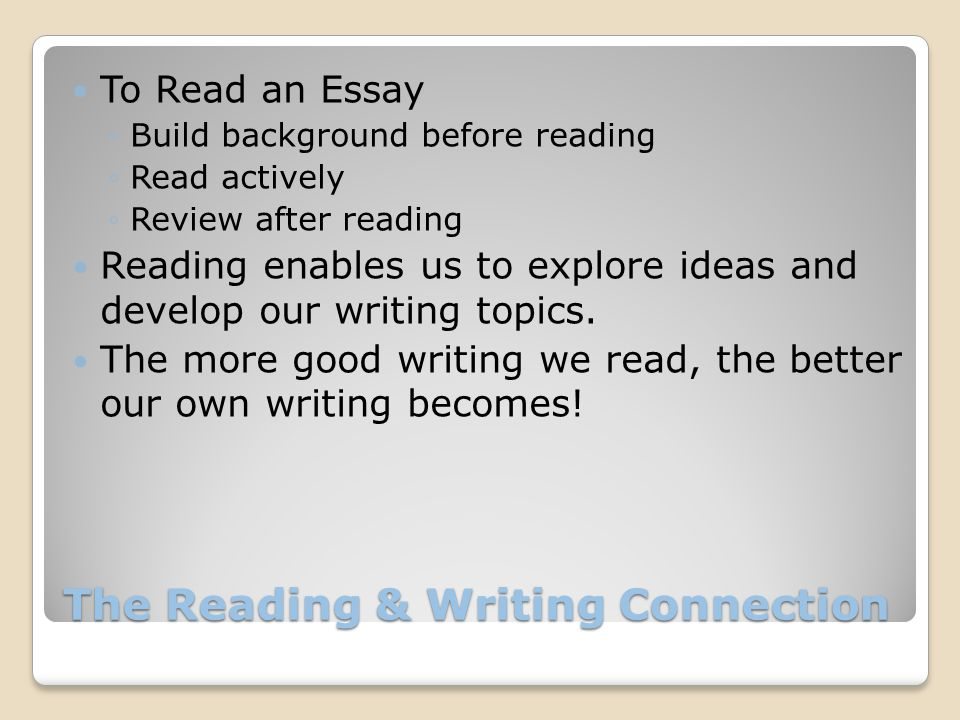 Writing an Essay: The Basics