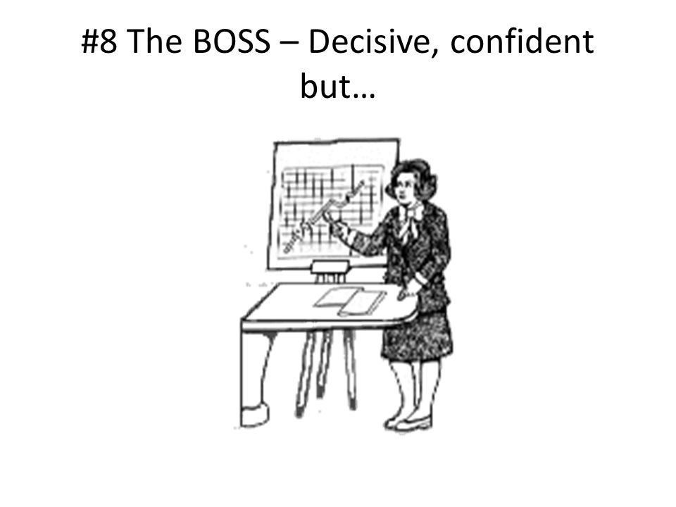 #8 The BOSS – Decisive, confident but…