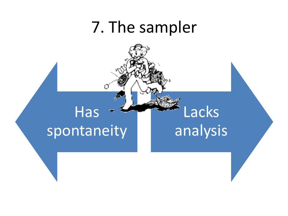 7. The sampler