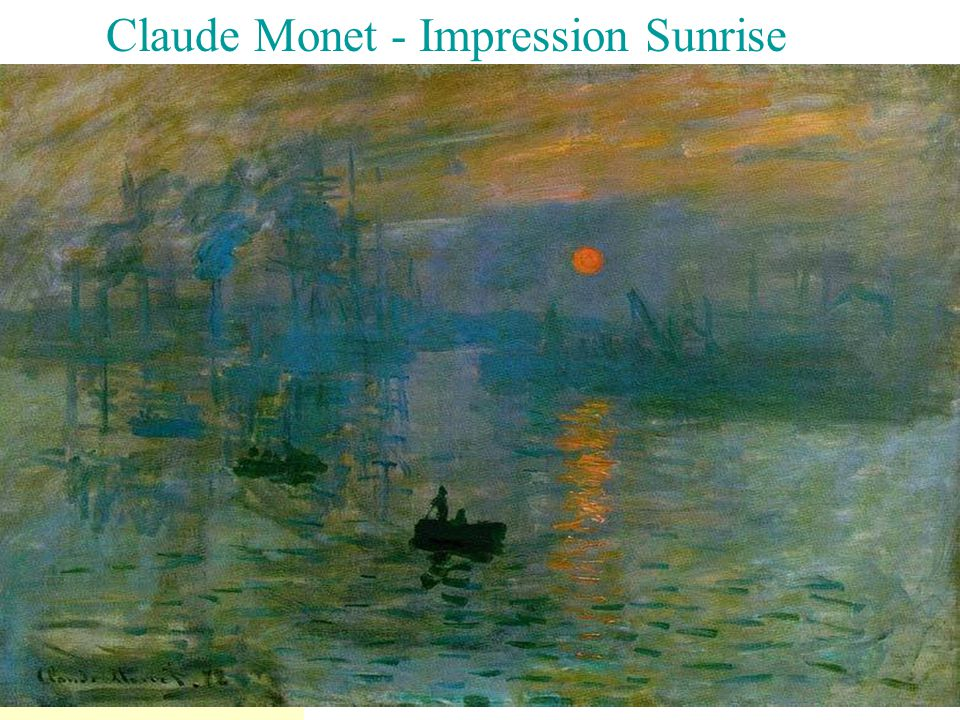 Claude Monet - Impression Sunrise