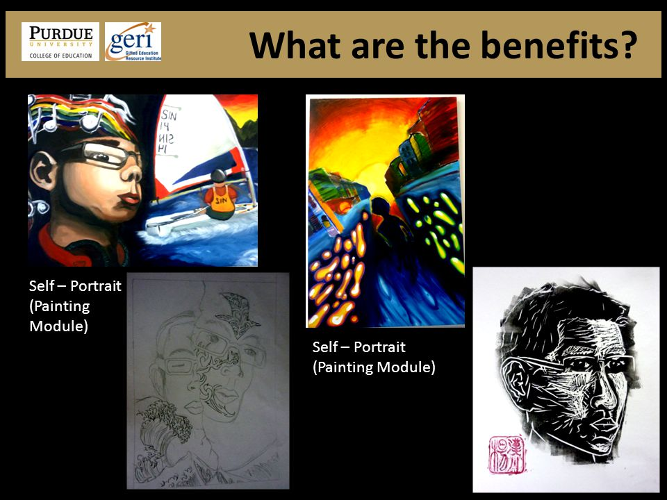 Self – Portrait (Painting Module) What are the benefits