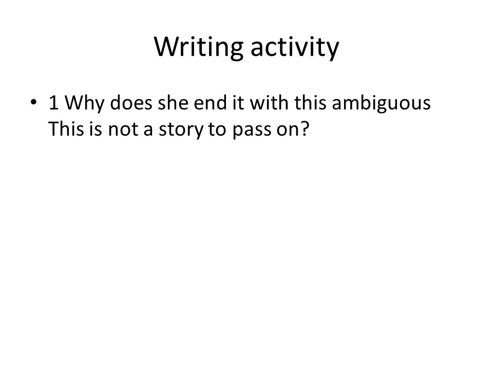 Discussion 2 How does the ending relate back to the beginning of the novel.