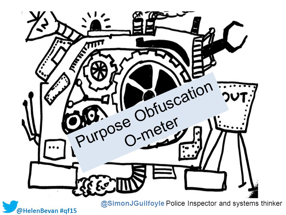 @HelenBevan #qf15 Purpose Obfuscation O-meter @SimonJGuilfoyle Police Inspector and systems thinker