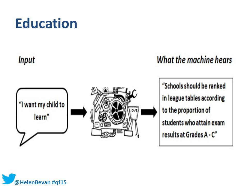 @HelenBevan #qf15 Education