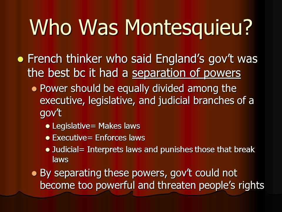 Who Was Montesquieu.