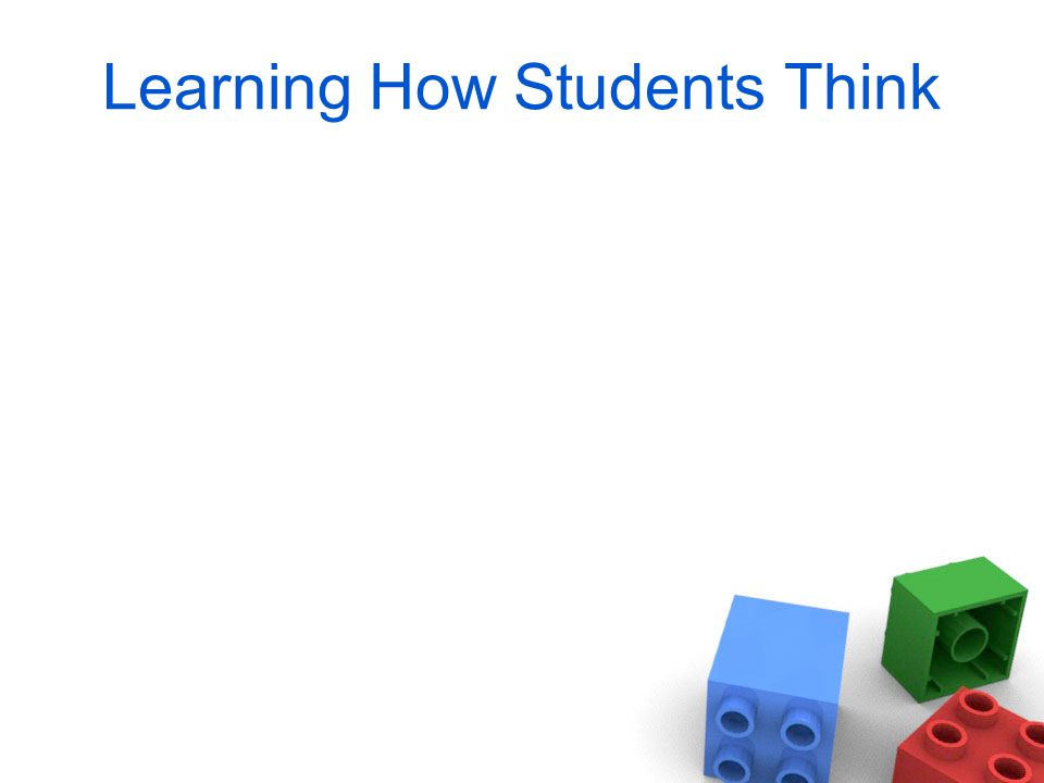 Learning How Students Think